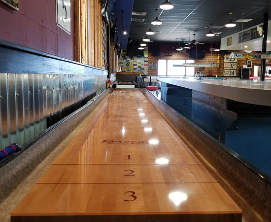3 shuffleboard tables at CarPool